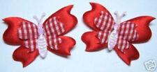Red Handmade Fabric Scrapbooking Embellishments