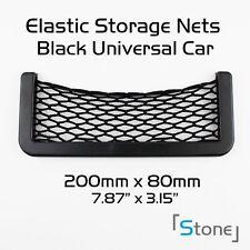 4pcs Elastic Black Cargo Storage Organizer Net String Bag 8*17cm Car Accessory