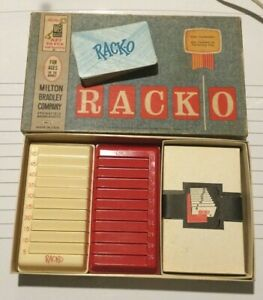 Vintage RACK-O card game, Milton Bradley, 1961, complete, racko
