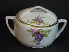 Rosenthal Donatello Handpainted Casserole Serving Dish w Lid, Roses/Grapes, Rare