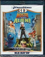 Blu-ray 3D + 2D DreamWorks **MOSTRI CONTRO ALIENI** nuovo 2009