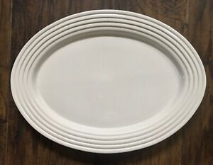 Pampered Chef Family Heritage Oval Serving Platter Stoneware Large Dish