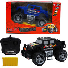 Remote Control Mega Treads Truck Rechargeable Battery With Lights Black