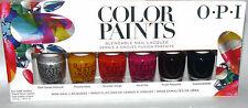 6 Colors OPI COLOR PAINTS Blendable Mini Nail Lacquer Polish Set .125 oz Each **