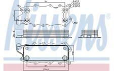 NISSENS Radiador de aceite motor 90784