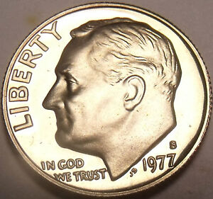 United States Proof 1977-S Roosevelt Dime~Upgrade To proof Coins