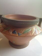 LARGE ART DECO ROSEVILLE ART POTTERY JARDINIERE FUTURA PATTERN MODERNIST