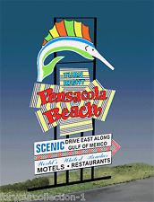 Pensacola Beach MILLER ENGINEERING  Animated Neon Sign 2750