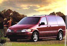 2001 OLDSMOBILE SILHOUETTE Mini-Van Brochure / Catalog with Color Chart: MiniVan