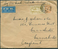 BRITISH INDIA TO GREAT BRITAIN Air Mail Cover 1934