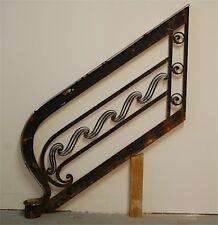 Rampe d'Escalier Art Deco Moderniste Fer Forgé Ancien Industriel Brandt French
