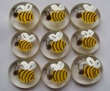 Bees GLASS GEMS HP HAND PAINTED PARTY FAVORS mini art bees bee