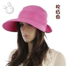 Trendy Type Women Summer Fashion Removable Bowknot Big Visor Cap Beach Sun Hat