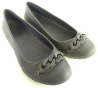 Crocs Gianna Womens Size 7 Brown Walking Casual Slip On Ballet Flats Comfy Shoes