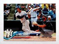 2018 Topps Series 2 Gleyber Torres #699 RC Rookie Card SP Variation Yankees
