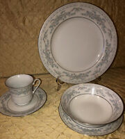 39 Piece Dinnerware Set Of Excel China Somerset Silver Edge