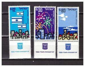 S30022) Israel MNH 1966 Independence Day 3v