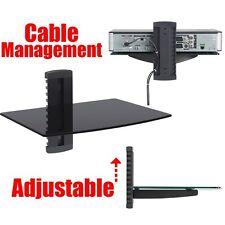 Glass Shelf Wall Mount Bracket Under TV LCD - DVD Bluray Xbox PS3 DVR Cable Box