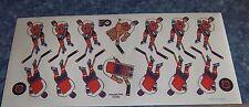 Coleco hockey team Sticker Sheet Philadelphia Flyers 1980's -90's table hockey