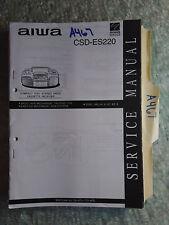New listing Aiwa csd-es220 service manual original repair book stereo radio cd player