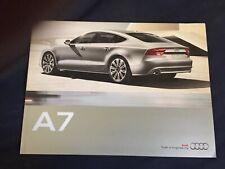 2011 Audi A7 USA 44 Page Color Brochure Catalog Prospekt