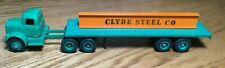 Winross White 9000 Clyde Steel Tractor/Flatbed Trailer 1/64
