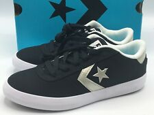 Converse Point Star Youth Size 1Y Ox Lace Up Shoes Black White - SHIPS FREE!