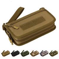 Men Nylon Clutch Wrist Bags Wallet Military Mini Cell Phone Card Purse Handy Bag