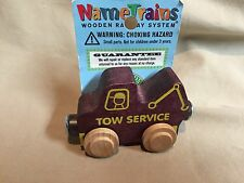 Maple Landmark Woodcraft Tow Truck Name Train Compat w Thomas Brio Trains