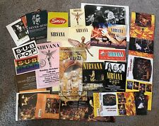 Nirvana Promo Lot Postcards Handbills Press Photo Rare 20+ Items
