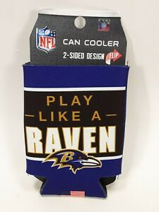 Baltimore Ravens Can Bottle Koozie/Coozie Drink Holder Authentic NFL 2 Sided NEW