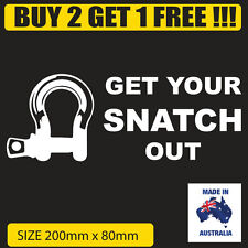 Funny 4x4 Car Sticker SNATCH OUT For Offroad 4wd Turbo Diesel Ute / Wagon Winch