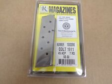 Colt Style 1911 Stainless Steel GI marked (19200-5508694) by Triple K #1000M