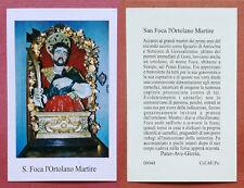 Santino Holy Card: S. San Foca l'Ortolano Martire