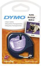 NON FADING !  DYMO LETRATAG LABEL RUBAN TRANSPARENT TAPE PLASTIC CLEAR LT
