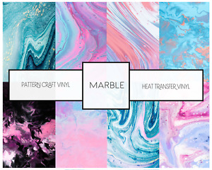 Ombre Marble Pattern HTV Siser & Adhesive Craft Vinyl Oracal FREE SHIPPING $20+