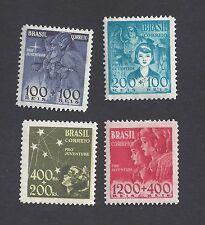 scott B8-11 Brazil 1939-40 Mother And Child Semipostal Set Complete Vf Mh
