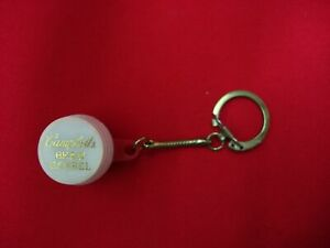 VINTAGE CAMPBELL'S BEAN BARREL DIME HOLDER KEY CHAIN MADE IN HONG KONG ~NICE~