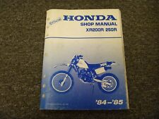 1984-1985 Honda XR200R XR250R Motorcycle Factory Shop Service Repair Manual