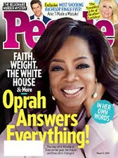 PEOPLE MAGAZINE MARCH 12 2018 OPRAH WINFREY- FAITH, WEIGHT AND THE WHITE HOUSE