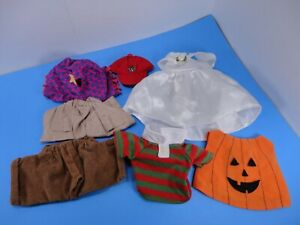 Webkinz clothing lot polo shirt, pumpkin costume, dress, ball cap, shorts