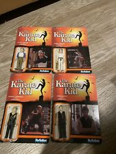 Funko Reaction action figure The Karate Kid LOT Of 4 Unpunched Mint