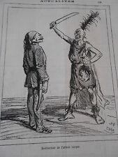 Typo Caricature 1876 - Instructeur de l'armée Turque