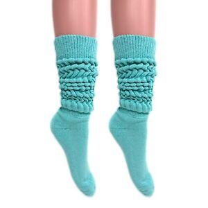 Slouch Socks Women and Men Extra Tall Heavy Socks 2 PAIRS Size 9-11