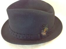 "Vintage Champ Fedora Black ""727"" Whisperjet Inspired By Eastern Airlines"