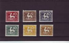 a121 - WURTTEMBURG - SGM245-M250 MM 1920 MUNICIPAL SERVICE STAMPS - STAG