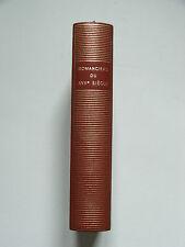 La Pléiade / ROMANCIERS DU XVIIe SIÈCLE / ANTOINE ADAM / NRF / 1962