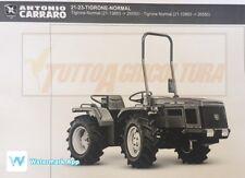 Catalogo ricambi trattori Antonio Carraro Tigrone Normal serie 21