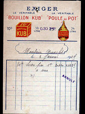 """PARIS (XIX°) USINE de BOUILLON KUB POULE au POT """"SPECIALITES ALIMENTAIRES"""" 1929"""