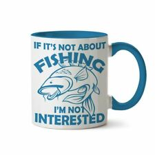 Fishing Gifts for Men or Women Funny Novelty Blue Coffee Mug Cup in Gift Box